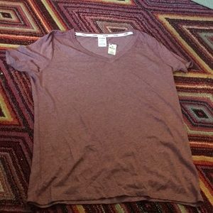 Pink by Victoria Secret V Neck Tee Size Large NWT